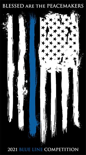 LE Blue Line American flag