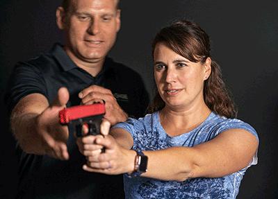 Virtual shooting range franchise