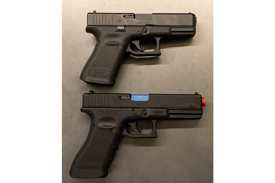 Sim gun versus real gun